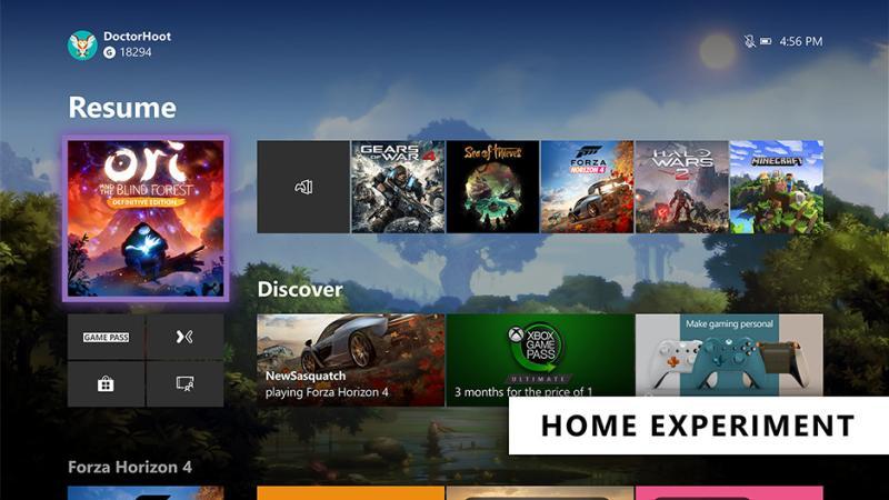 Microsoft начала тестировать новый дизайн домашней страницы Xbox One