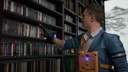 Новый трейлер Death Stranding - шикарная библиотека и коллекция дисков Хартмэна