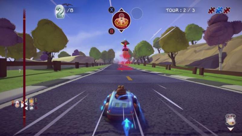 Новый гоночный симулятор для Garfield Kart: Furious Racing выйдет этой осенью
