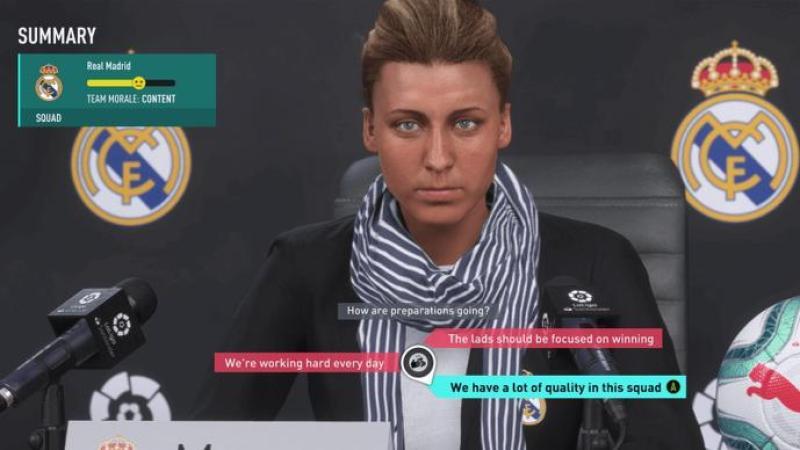FIFA 20 позволит создать женского менеджера и участвовать в интерактивных пресс-конференциях