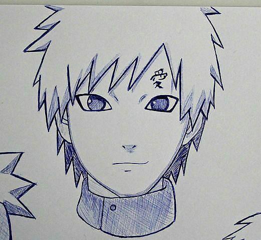 Картинки аниме наруто для срисовки гаара