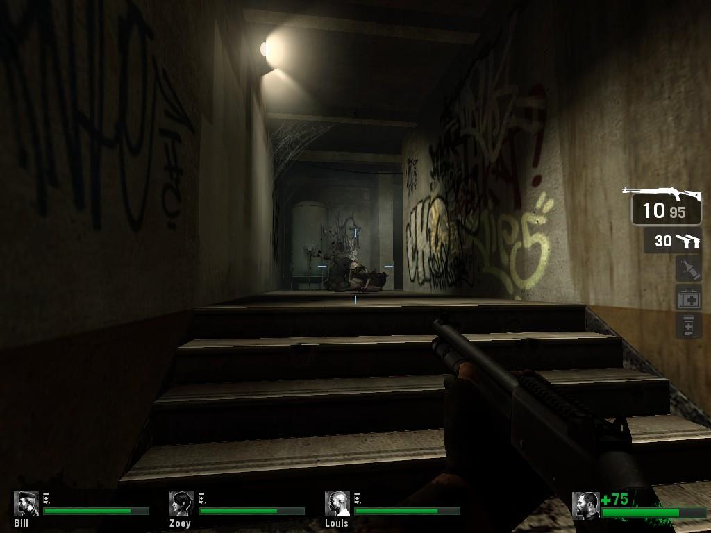 .L4D Hunter tryed kill Witch - Left 4 Dead