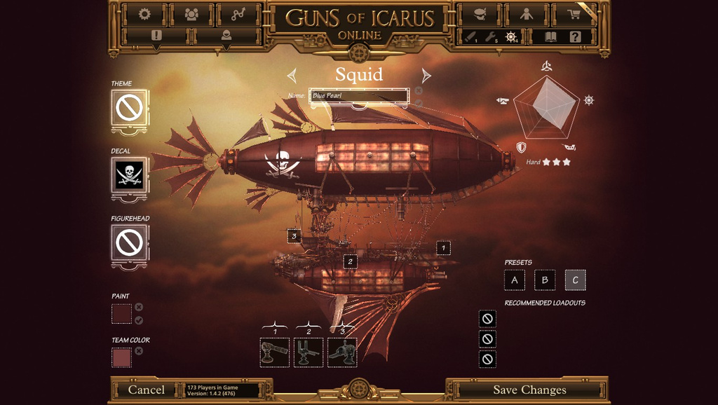 капитан - Guns of Icarus Online practice, Пилот