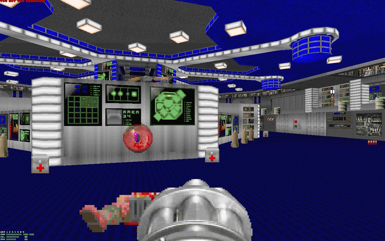Мод Going Down под PrBoom 2.02 - Doom 2: Hell on Earth Going Down