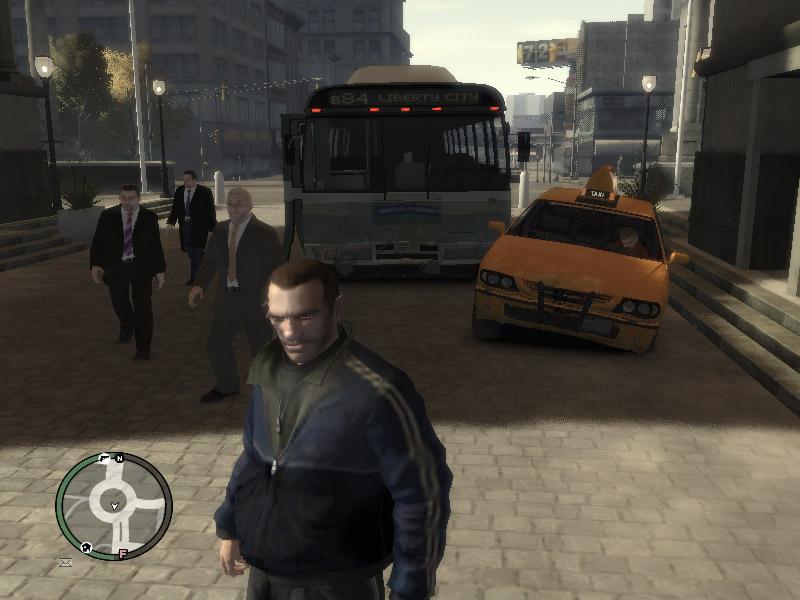 Физика: как перекосило такси автобусом - Grand Theft Auto 4