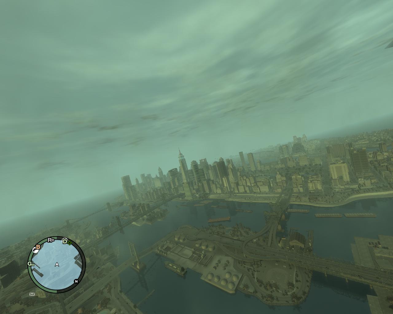 Либерти сити с высоты птичего полета - Grand Theft Auto 4