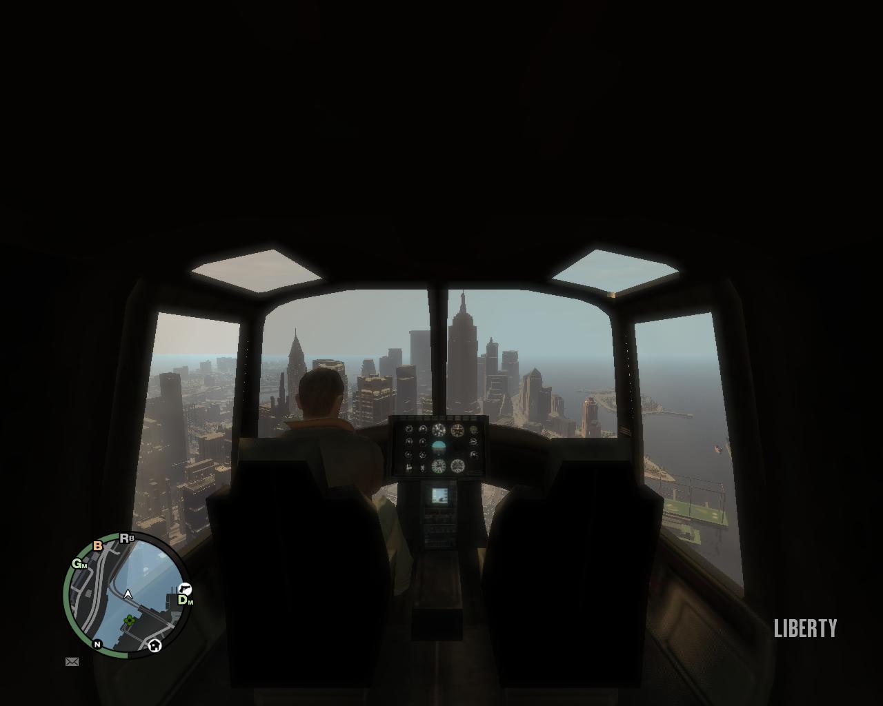 вид из кабины - Grand Theft Auto 4