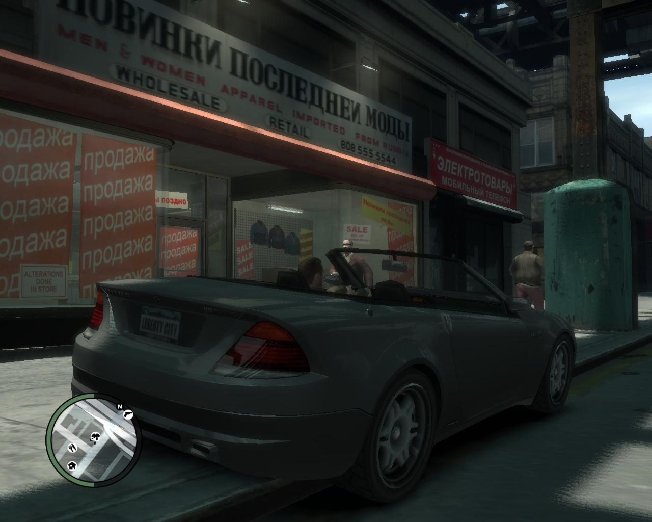 Подъехал к магазу со шмотками - Grand Theft Auto 4