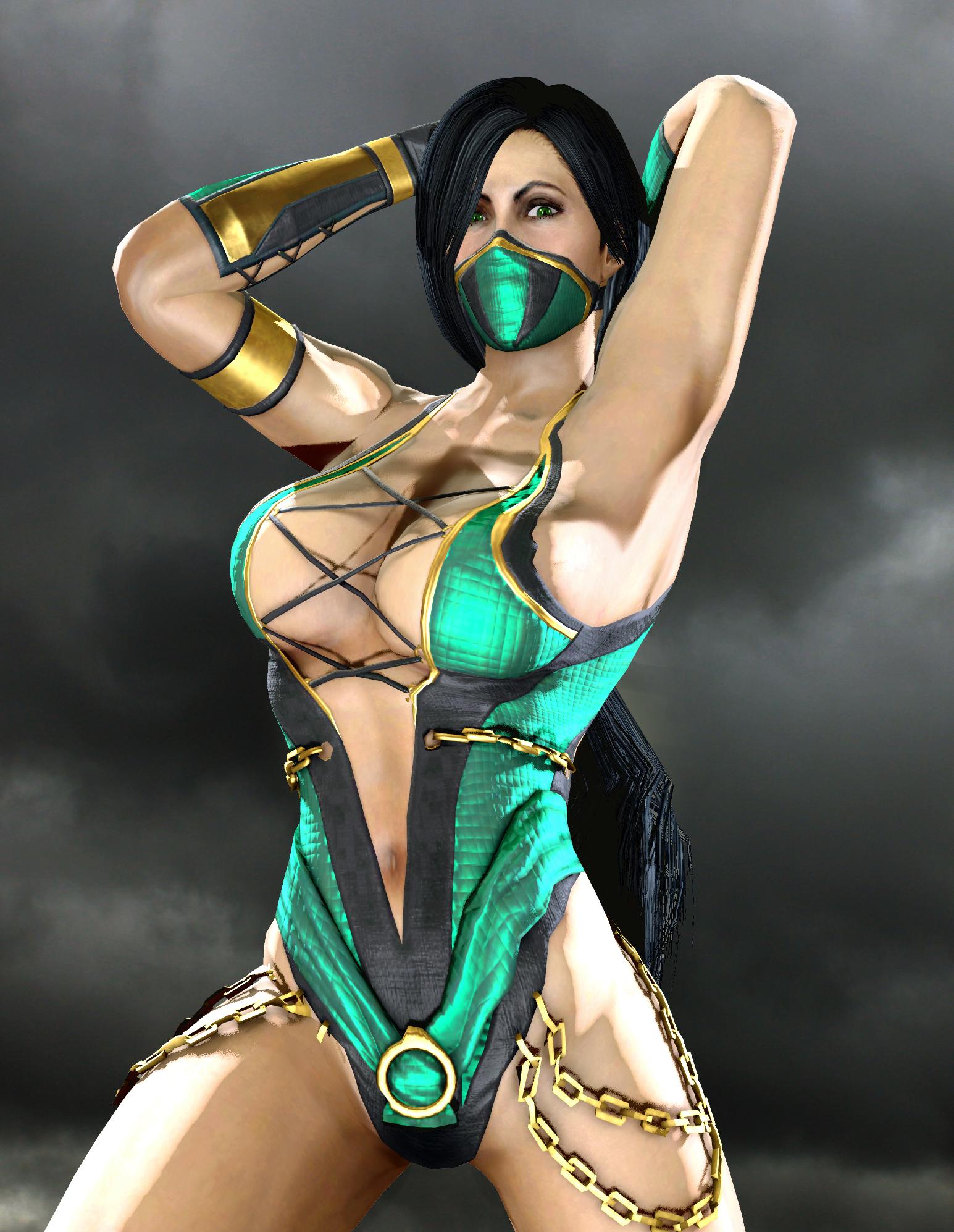 Сексуальная jade mortal kombat