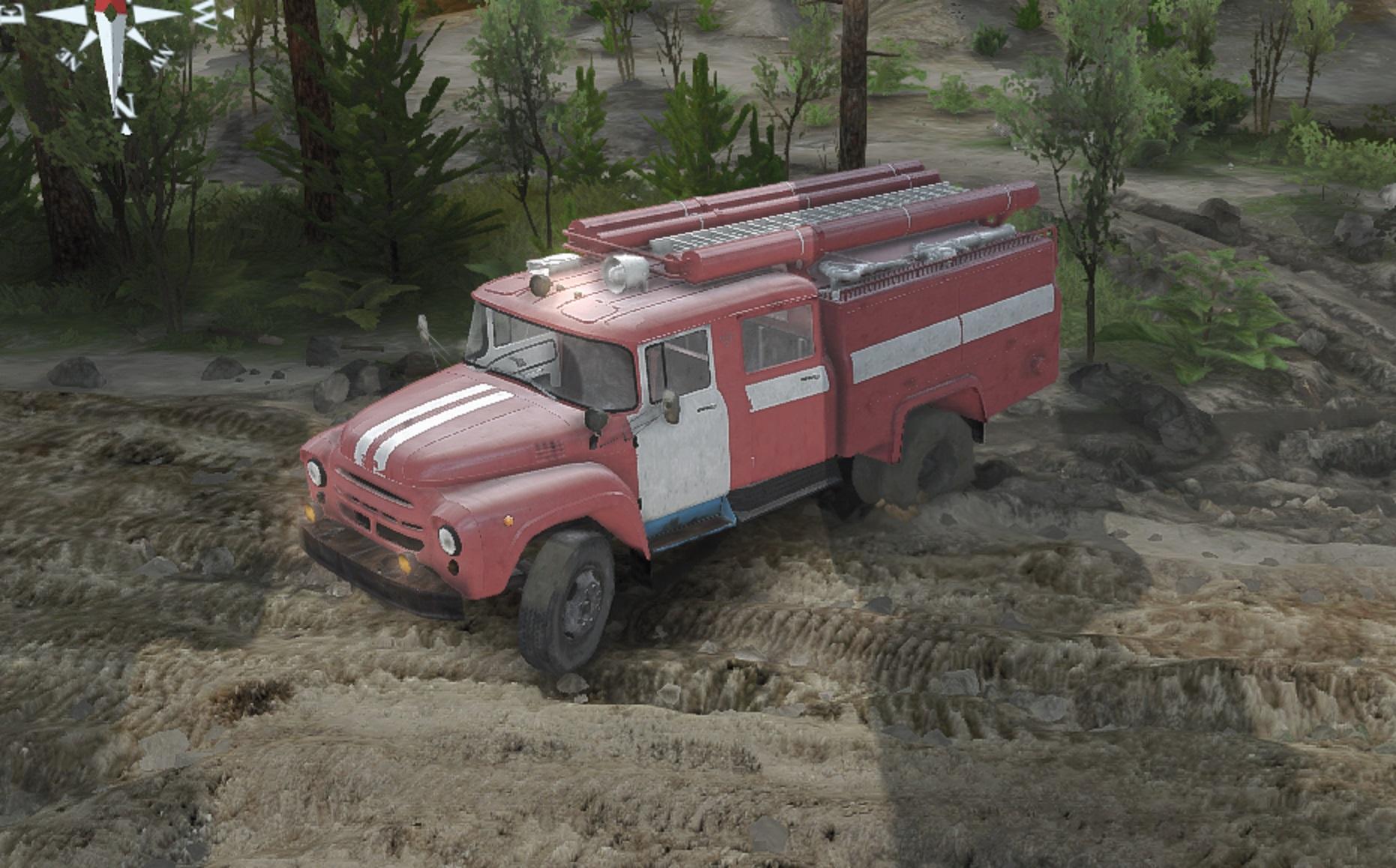 Пожарный ЗиЛ 130 АЦ-40 для версии 8.11.15 - Spintires