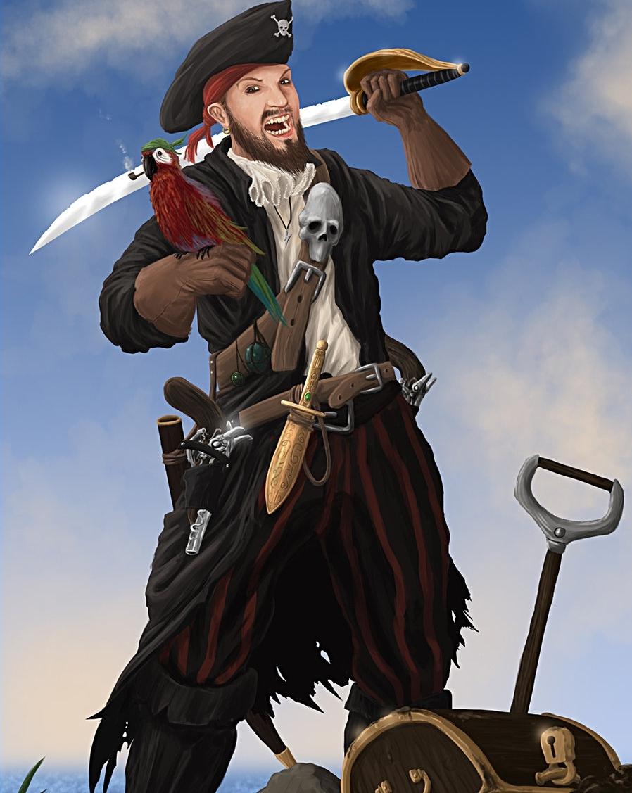 сам картинка храбрый пират жаккард встречается