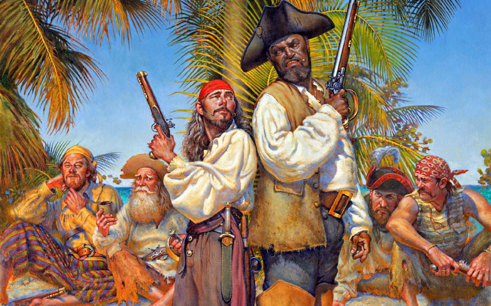 Пираты на картинках, советская