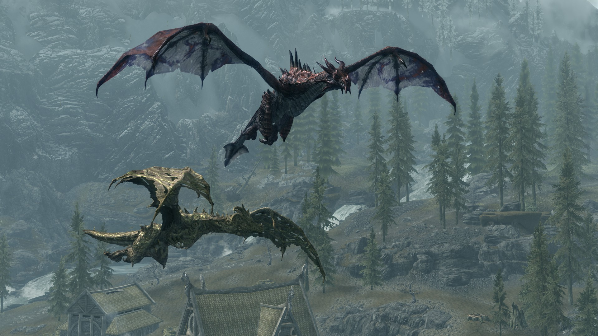 дракон скайрима картинки взаимодействия