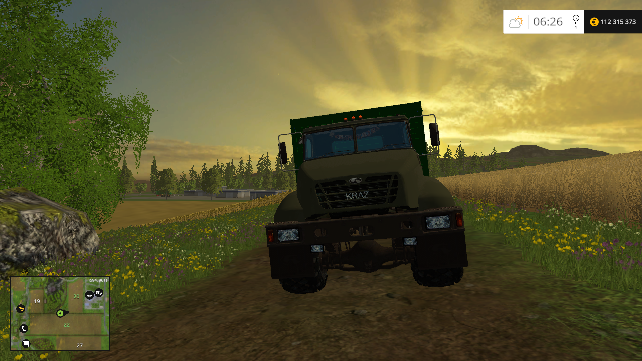 Краз V18. Борт - Farming Simulator 15 Мод, Транспорт