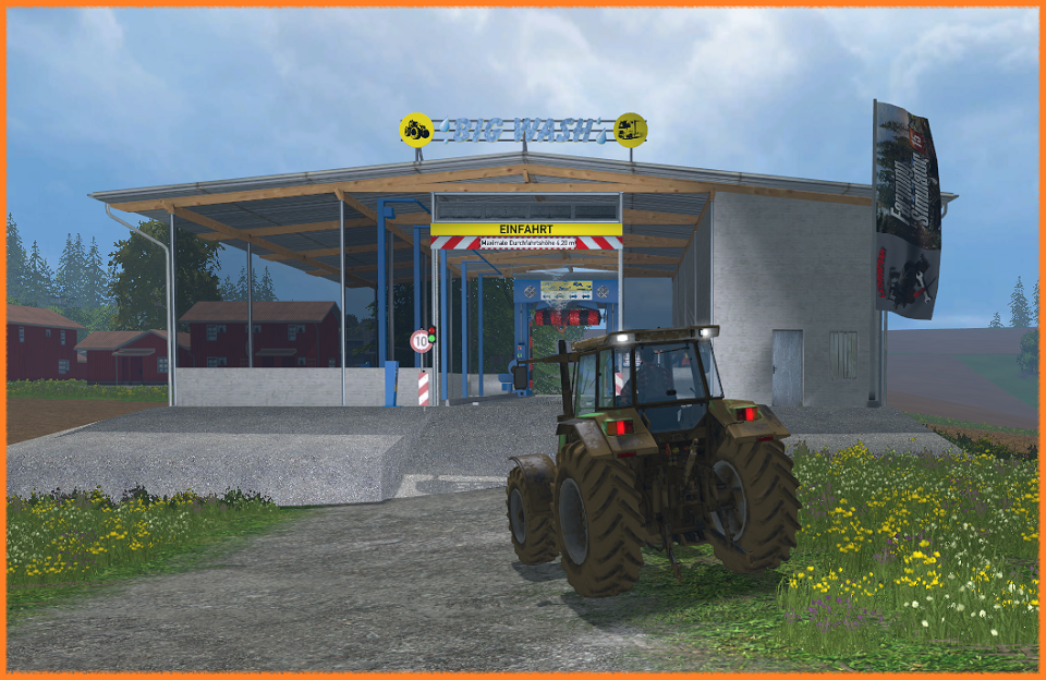Автомойка - Farming Simulator 15 placeableCarWash_V1_1