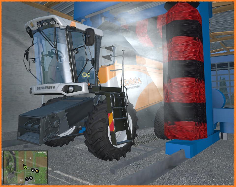 Автомойка - Farming Simulator 15 placeableCarWash_V1_1