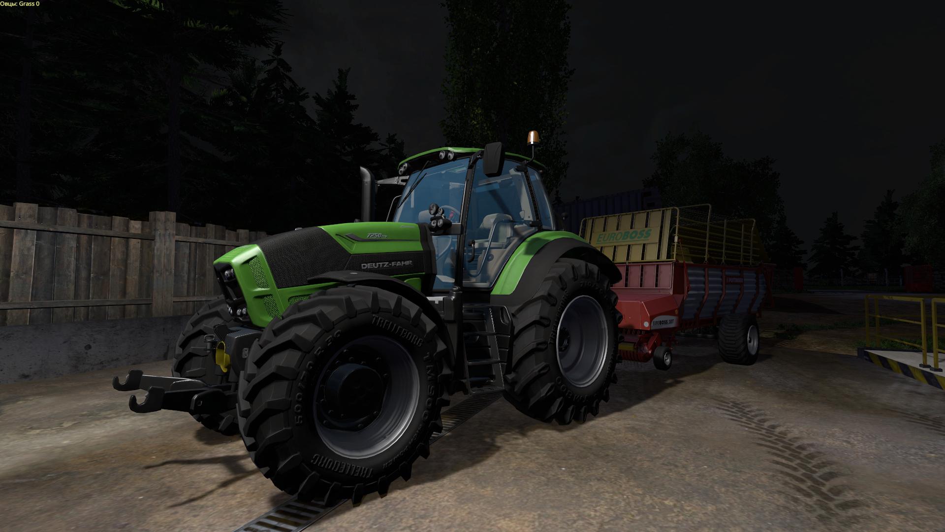 Вот так выглядит трактор Deutz TTV7250 на карте Hof Bergmann Map после тщательной настройки параметров видеокарты - Farming Simulator 15 Farming Simulator 15