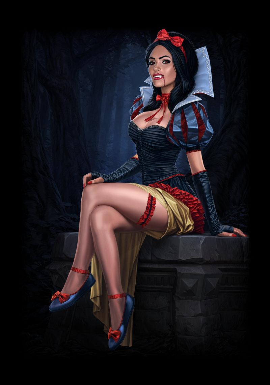 Арт вампирши - King's Bounty: Dark Side King's Bounty. Легенда о рыцаре, арт, вампирша