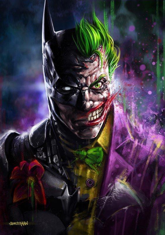 Непобедимиый гибрид - - Бетмен, джокер