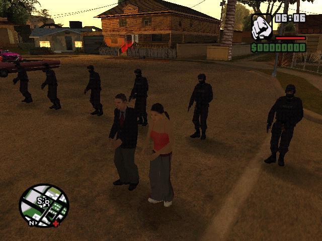 Танец Торено, Кати и спецназа на Грув.. - Grand Theft Auto: San Andreas Юмор