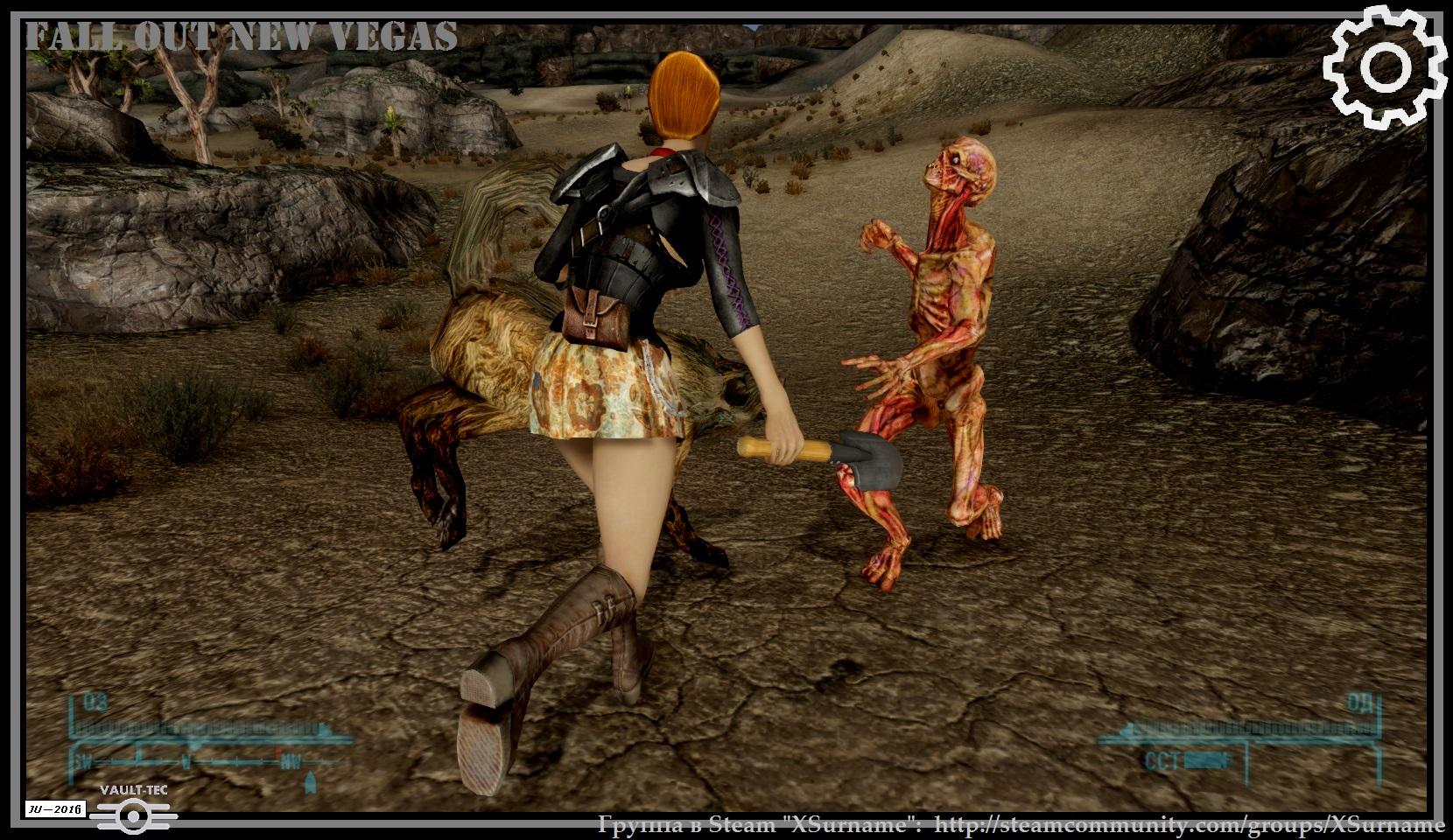 Избиение и травля гуля. 0.jpg - Fallout: New Vegas гуль, лопата, Мак Насильник, пёс, собака