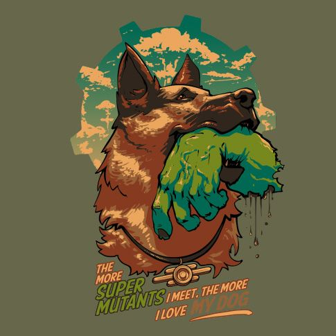 85d79d57c237a3b6de535030f42e3340.jpg - - Poster, Super Mutant, Собака