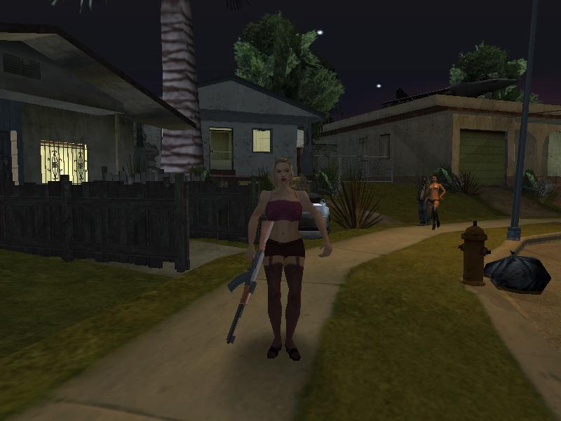 Бетти в роли телохранителя - Grand Theft Auto: San Andreas Бетти