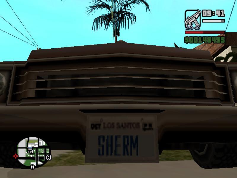 номер тачки - Grand Theft Auto: San Andreas gta sa
