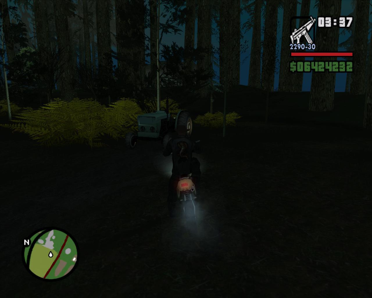 неожиданный трактор - Grand Theft Auto: San Andreas