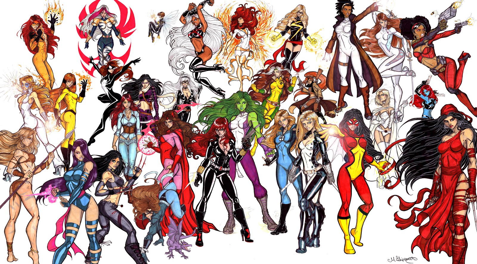 Герои марвел картинки женщины