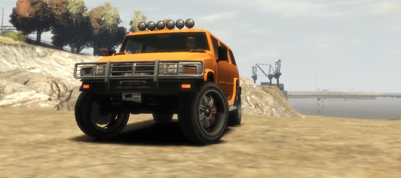 Хамер, на пляже - Grand Theft Auto 4 авто