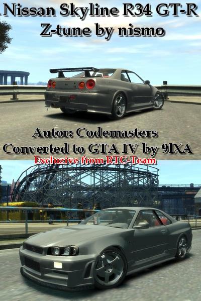 Nissan Skyline - Grand Theft Auto 4