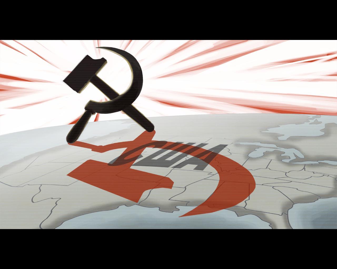 Скрины из разных игр - World in Conflict СССР победила США