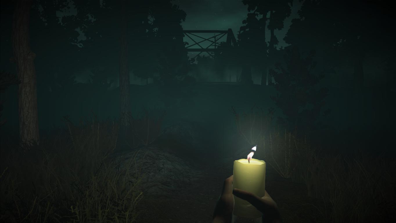 Лес - Wick свеча, стремные дети