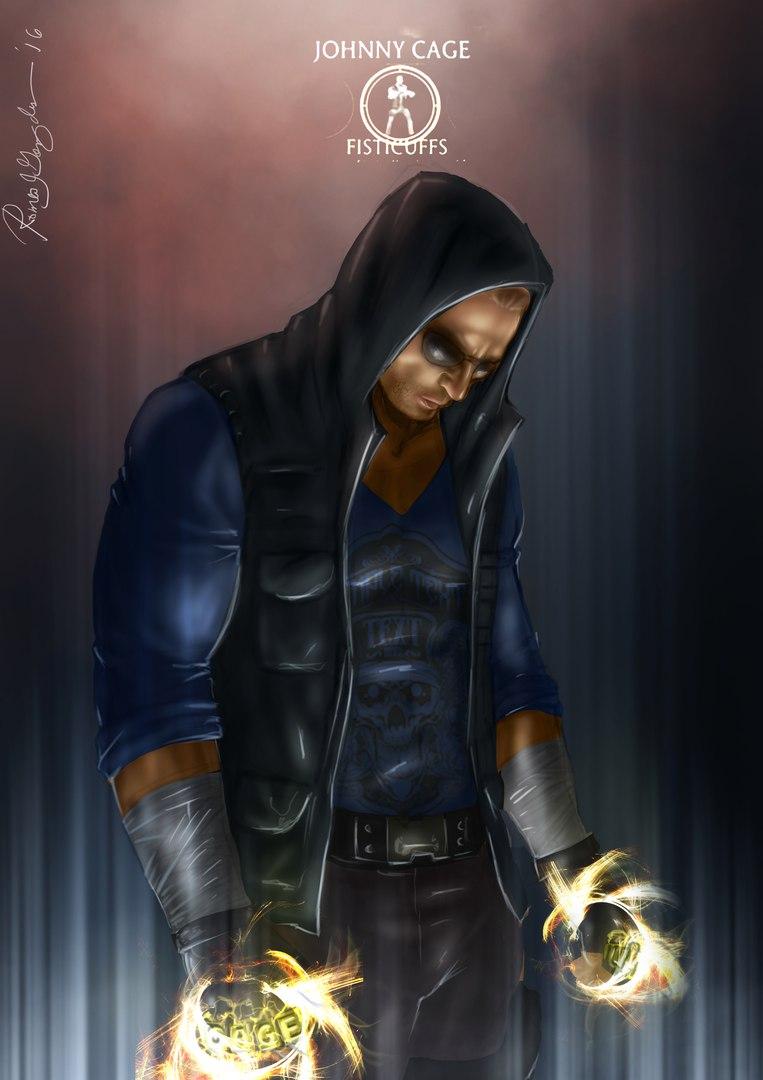 Кейдж - Mortal Kombat X Johnny Cage, арт