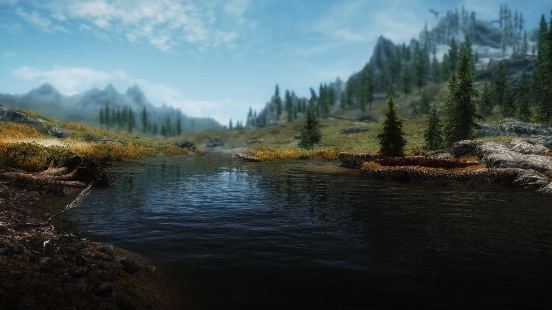 картинки пейзаж скайрима самурай