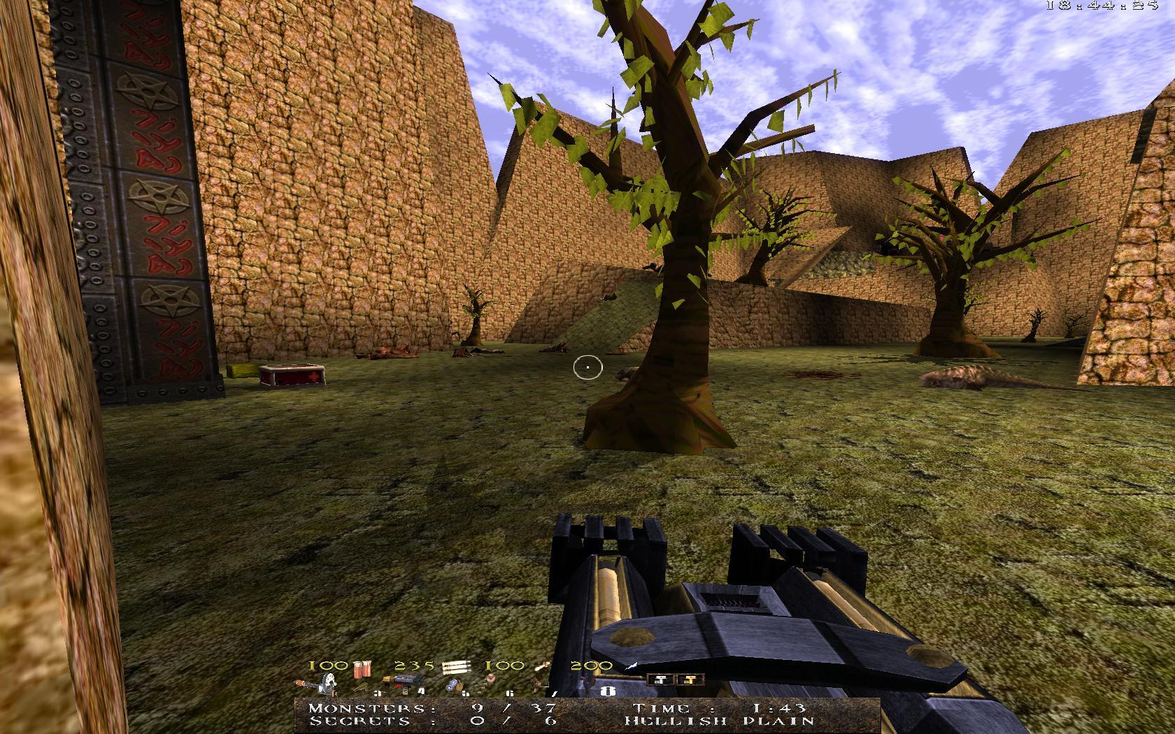 Quake Mountain addon for Quake 1 (qrack port) - уровень имеет слишком простую архитектуру - Quake Мод