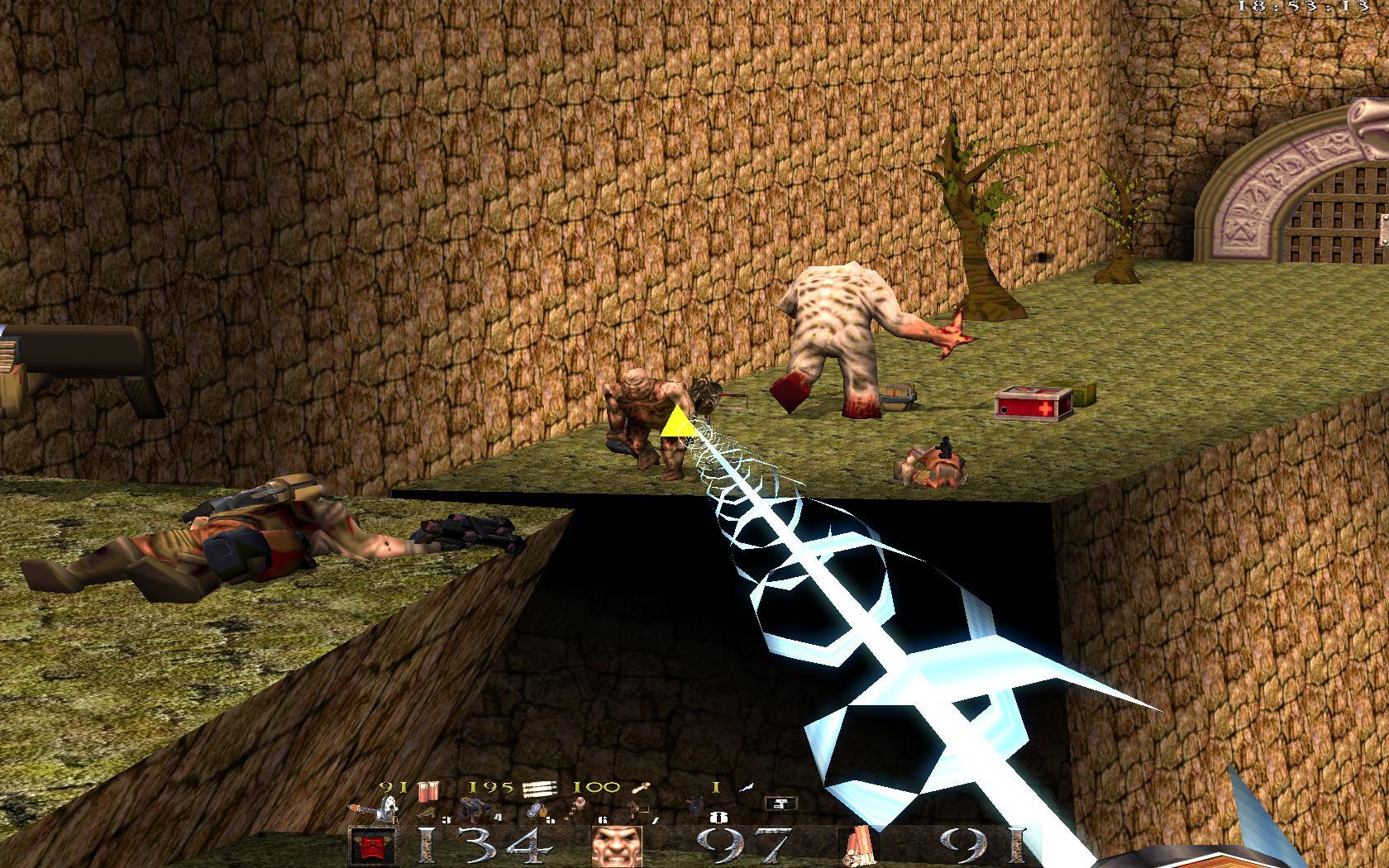 Quake Mountain addon for Quake 1 (qrack port) - рельса невероятно кривая, реально стрелять только в упор - Quake Мод