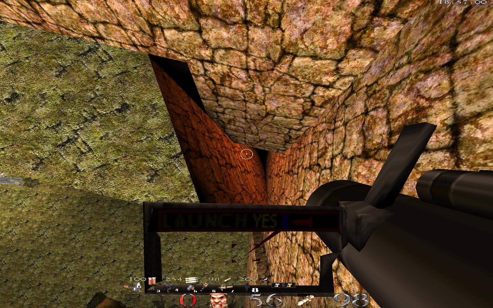 Quake Mountain addon for Quake 1 (qrack port) - здесь надо поставить clip-браш - Quake Мод