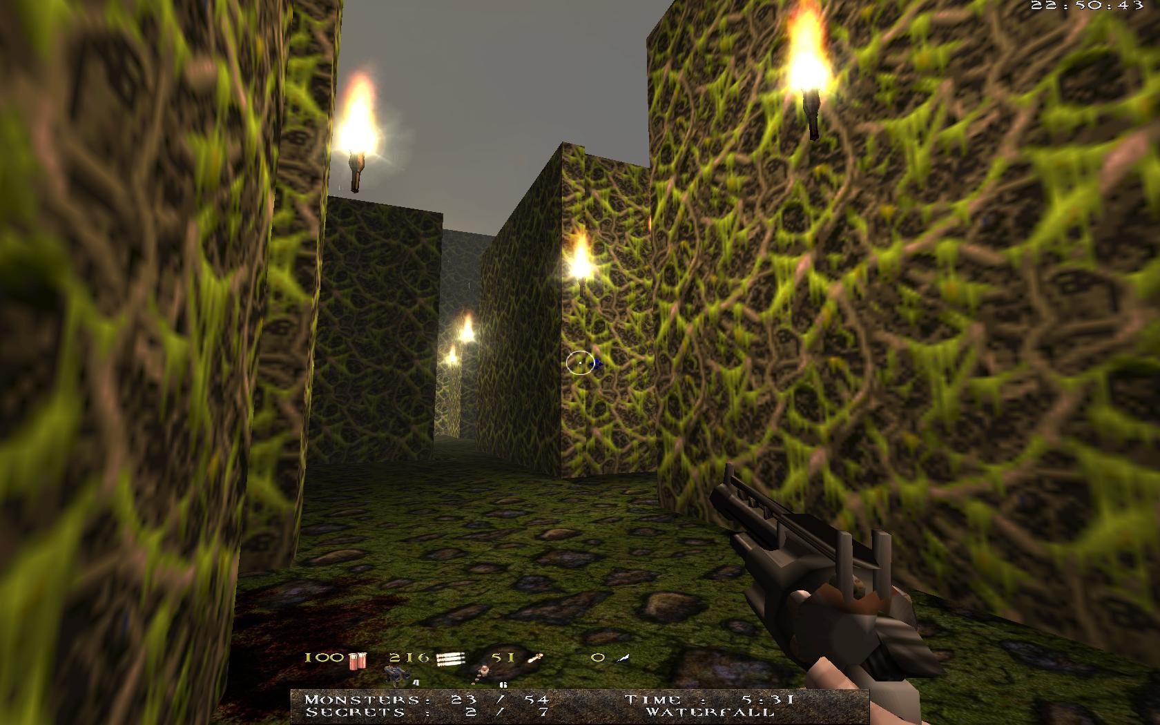 Quake Mountain addon for Quake 1 (qrack port) - лабиринт... огни криво стоят )) - Quake Мод