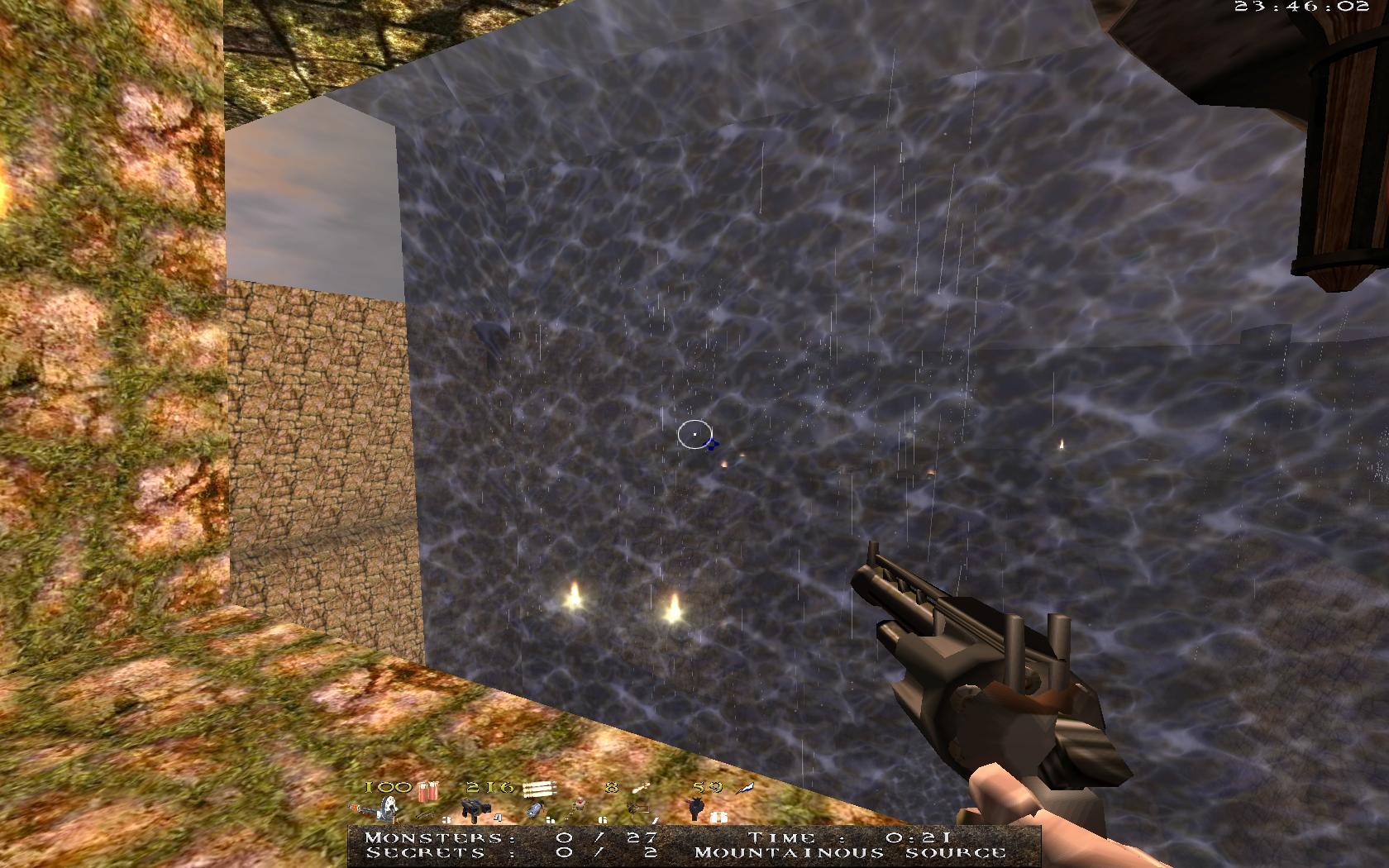 Quake Mountain addon for Quake 1 (qrack port) - водопад, лучше чем предыдущий, но все равно не то. Анимация не соответствует движению воды. - Quake Мод