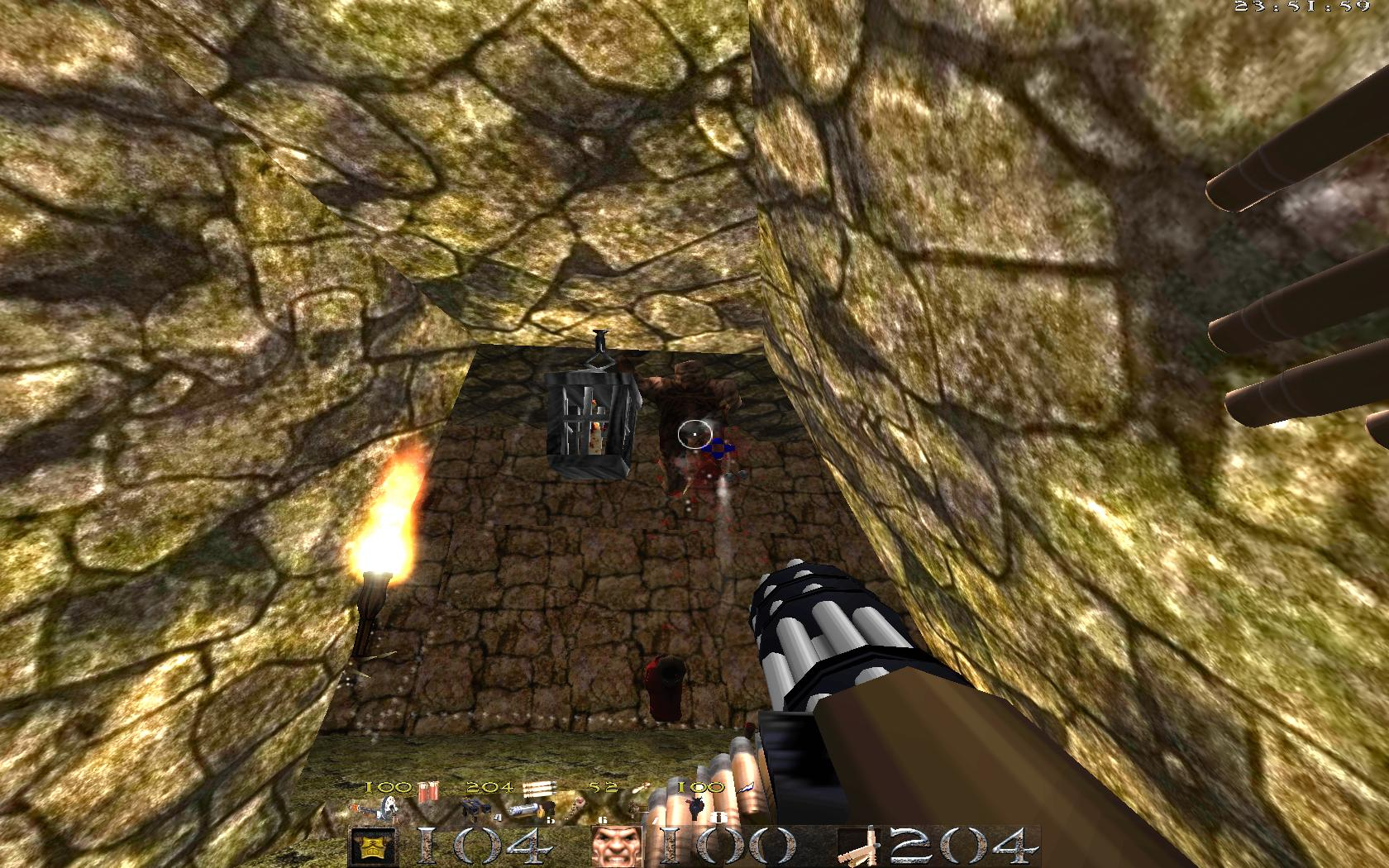 Quake Mountain addon for Quake 1 (qrack port) - монстр появляется в воздухе и там зависает - Quake Мод