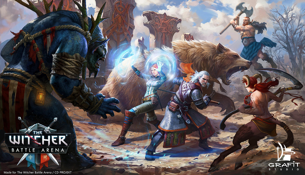 witcher_by_grafit_art-d90pa6q.jpg - Witcher Battle Arena, The Арт
