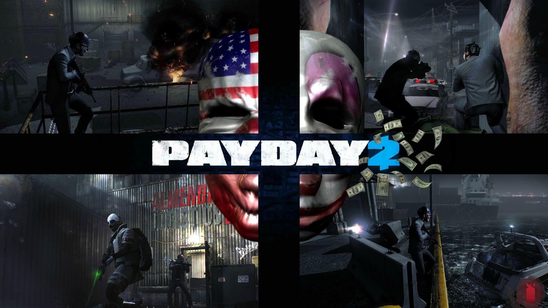 Payday 2 - Payday 2 арт, деньги, Клоун, Маска, пейдей