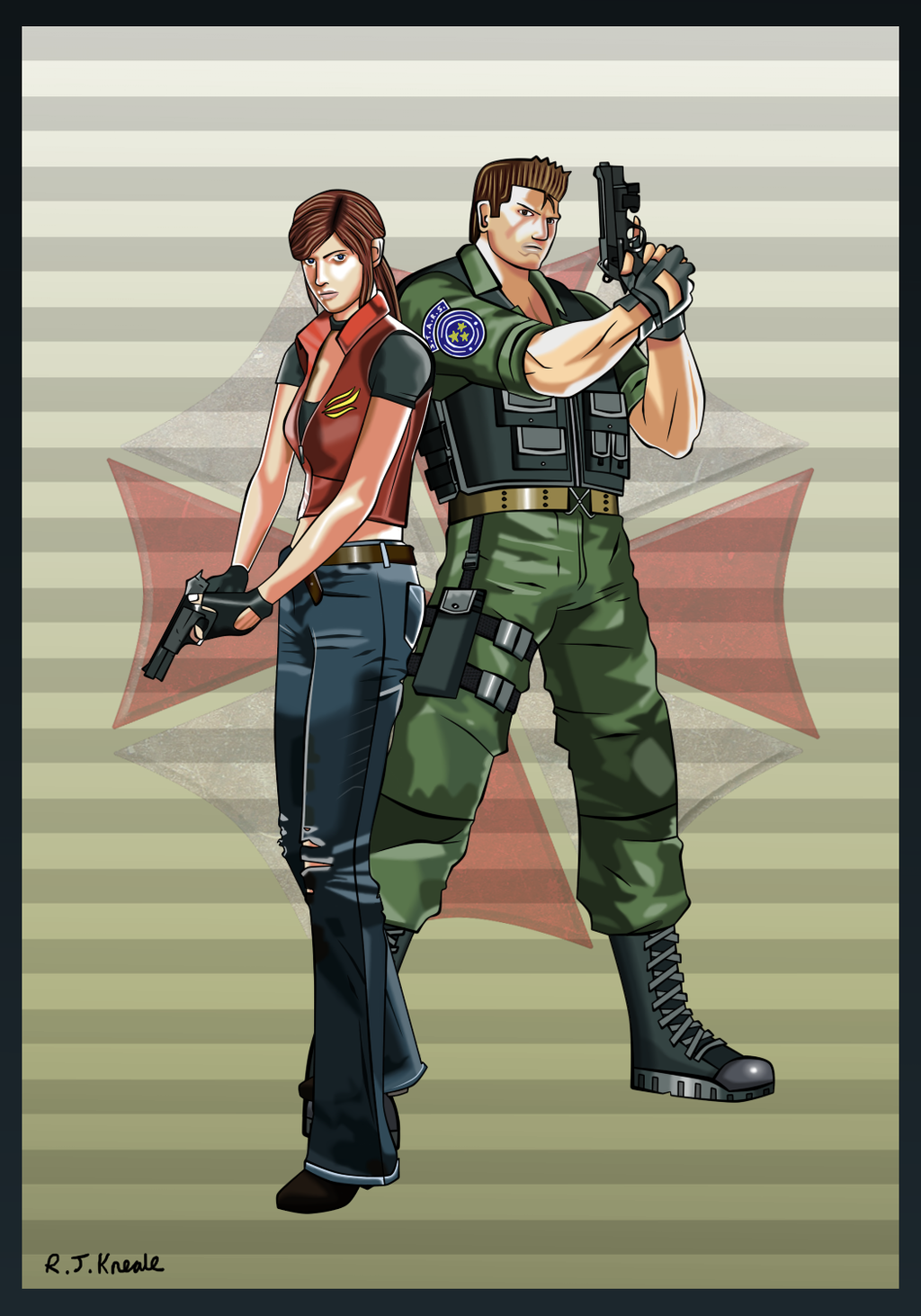 resident_evil___chris_and_claire_by_rittie145-daynjkd.png - Resident Evil Code: Veronica X