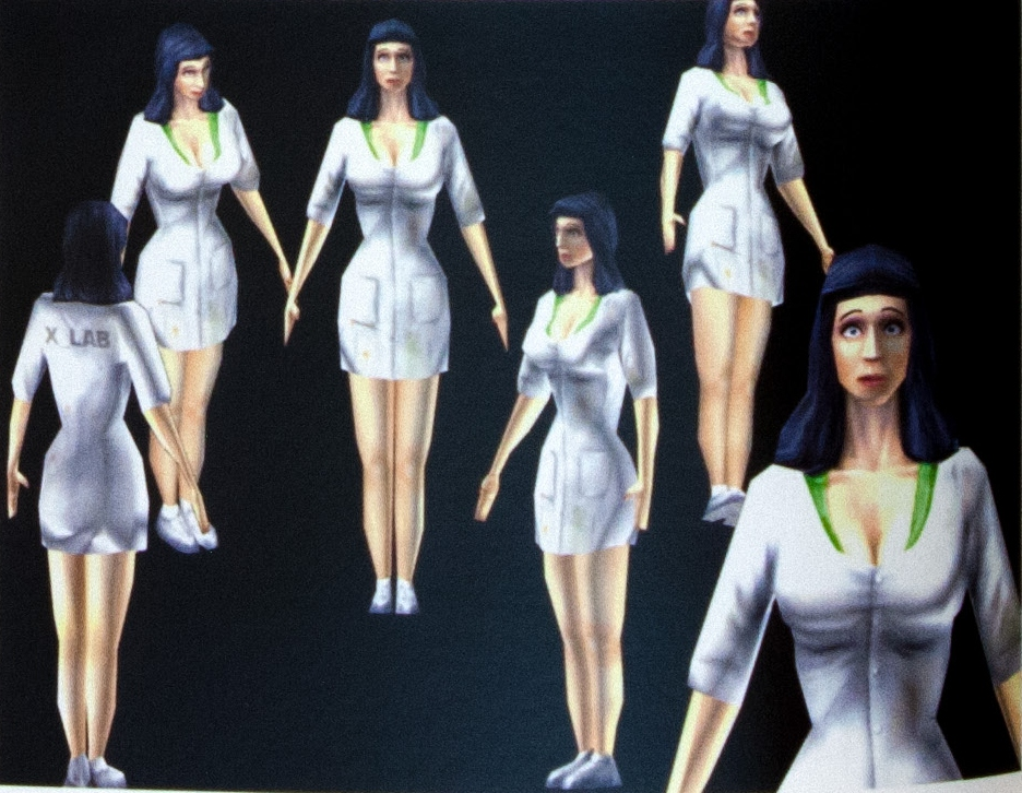 cut model of female scientist - Half-Life Raising the Bar, Raising The Bar Uncorrected Proof, RtB, RtBUP, Uncorrected Proof