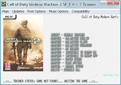 скачать трейнер для modern warfare 2