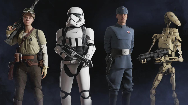Солдат-повстанец, имперский шутрмовик, имперский офицер и B1 - Star Wars: Battlefront 2 (2017) Арт
