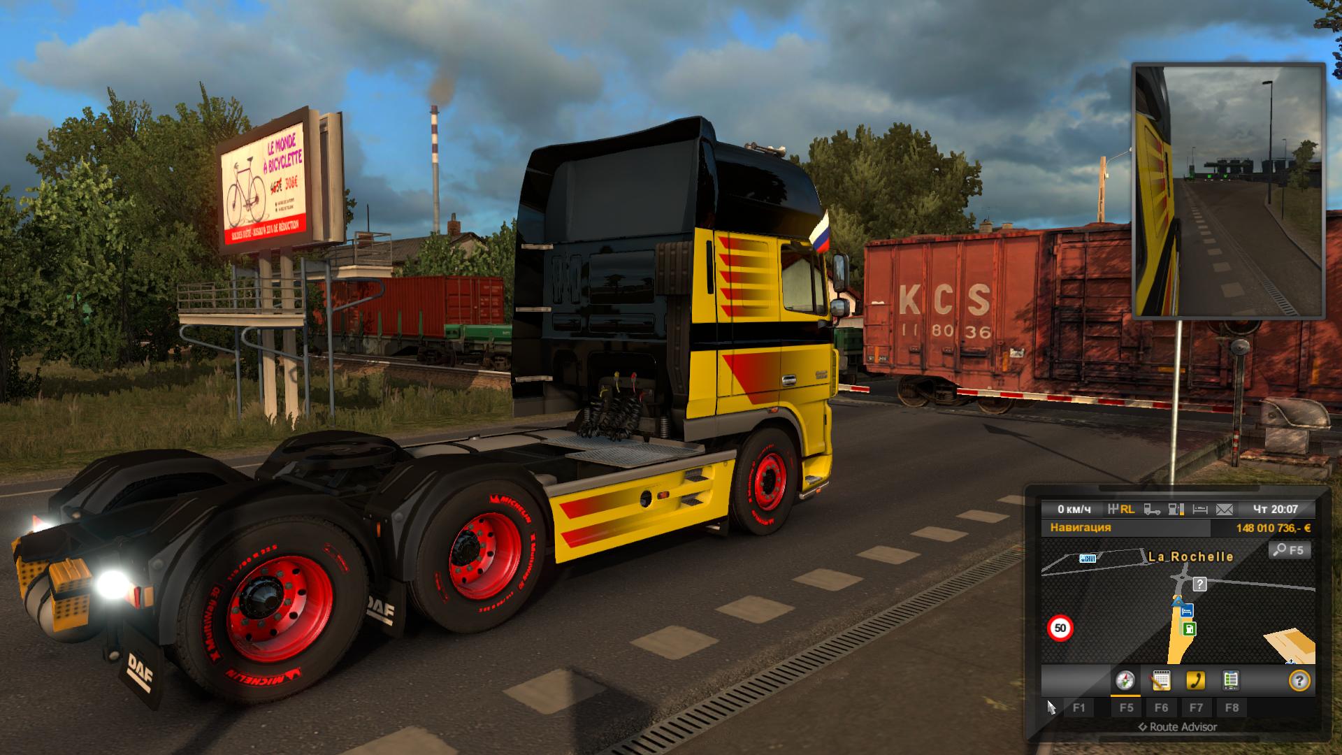 грузовик - Euro Truck Simulator 2 DAF, Транспорт