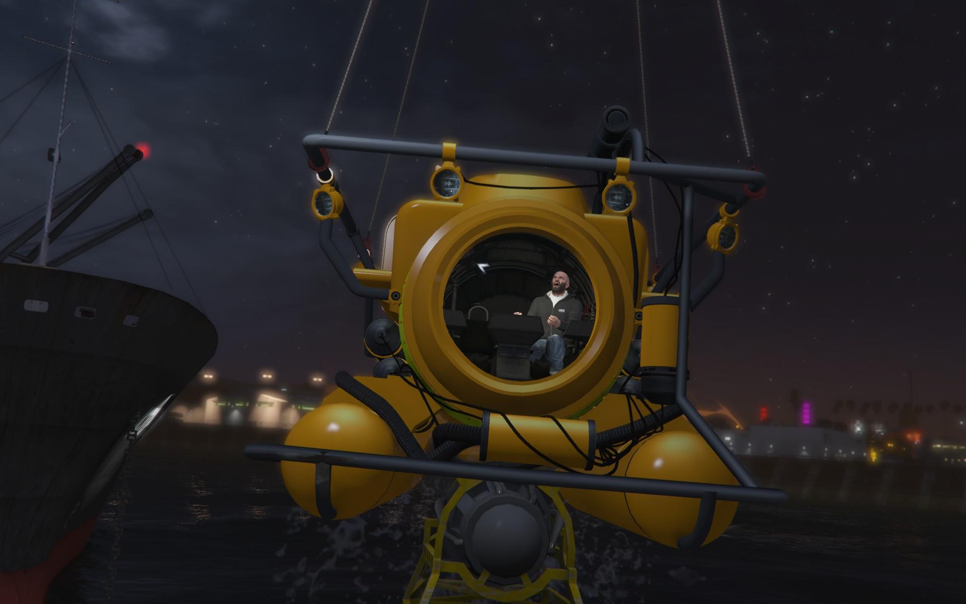 ограбление мерриуэзер - Grand Theft Auto 5 submarine, trevor philips